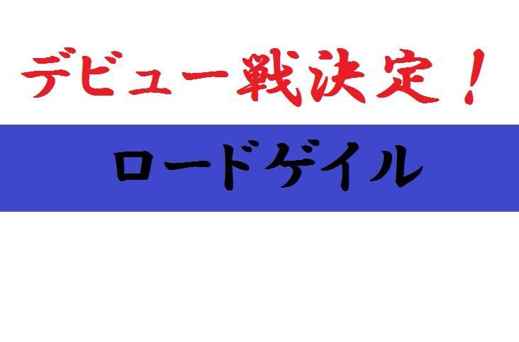 デビュー戦決定!(ロードゲイル)