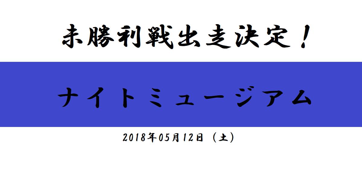 未勝利戦出走決定!ナイトミュージアム(2018/05/12)
