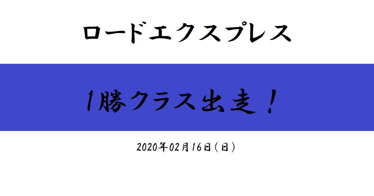 ロードエクスプレス 1勝クラス出走!(2020/02/16)