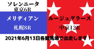 ソレンニータ&メリディアン&ルージュグラース同日出走(2021/06/13)