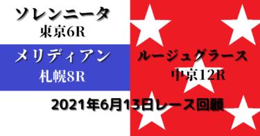 ソレンニータ&メリディアン&ルージュグラース レース回顧(2021/06/13)